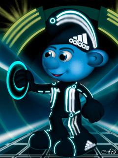 Картинка Smurf + adidas