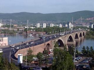 Картинка Коммунальный мост Красноярска