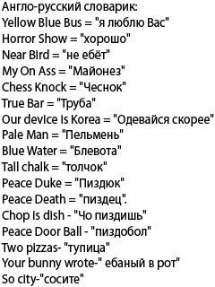 Картинка Англо-русский словарик