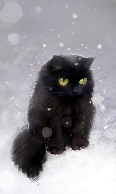 Картинка Чёрный кот
