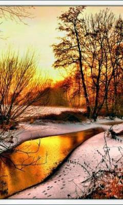 Картинка Зимняя река