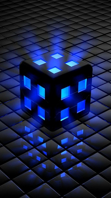 Blue light cube