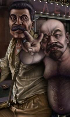 Картинка Сталин vs Ленин