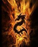 Картинка Flaming dragon