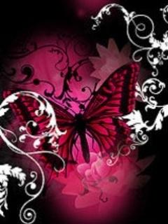 Картинка Розовая бабочка