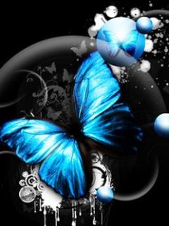 Картинка Голубые бабочки