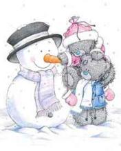 Картинка Тедди и снеговик