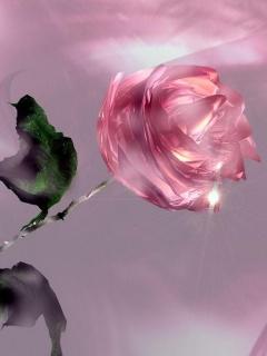 Картинка 3D Pink Rose