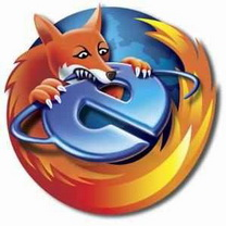 Картинка Mozilla Firefox пожирает internet explorer