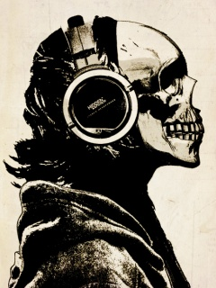 Картинка Skull And Music