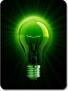 Картинка Зеленая неоновая лампочка