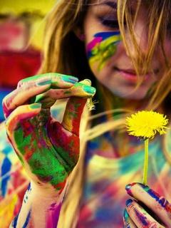 Картинка Красочные цвета+одуванчик