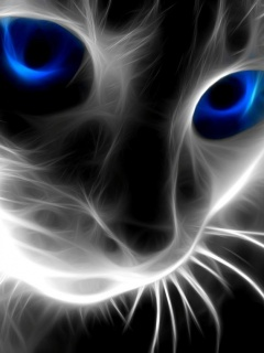 Картинка Неоновая кошка