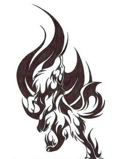 Картинка Тату волк