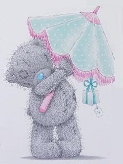 Картинка Малышка с зонтиком
