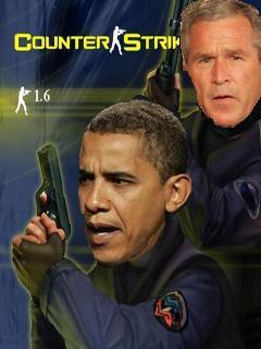 Картинка Барака Обама и Джордж Буш в Counter Strike