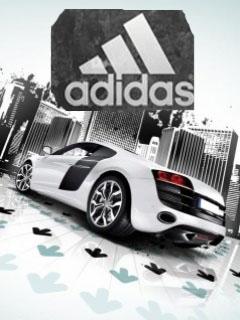 Картинка Adidas и тачка