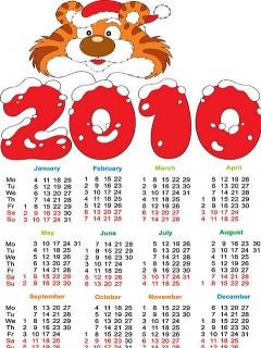 Картинка Календарь 2010
