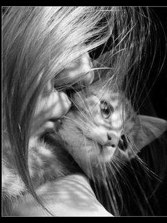 Картинка Девушка с котенком