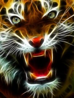 Картинка Неоновый тигр
