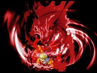 Картинка Наруто сражение с демоном