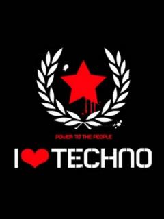 Картинка I love tehno