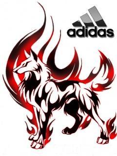 Картинка Adidas+Волк тату