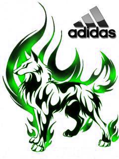 Adidas+Wolf tattoo