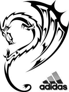 Картинка Adidas+Wolf dragon