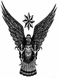 Картинка Тату орёл - вор в законе