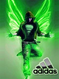 Картинка Adidas neon