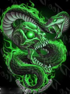 Картинка Черепок и змея
