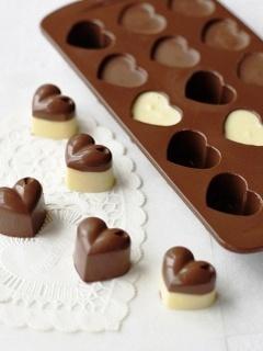 Картинка Шоколадные сердечки
