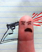 Картинка Палец убивает себя
