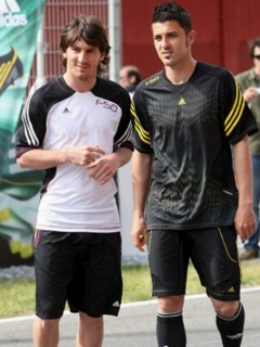 Картинка Messi и David Villa