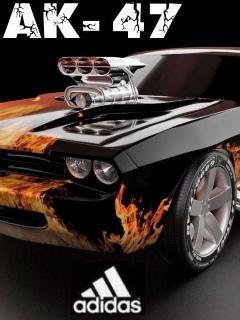 Картинка Muscle Car+АК-47+Adidas