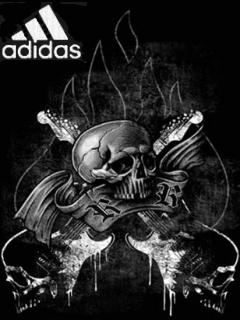 Картинка Adidas+череп