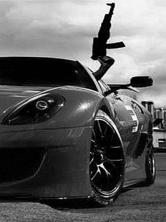 Картинка Ferrari + AK-47