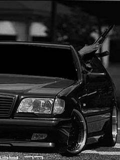 Картинка Mercedes + AK-47