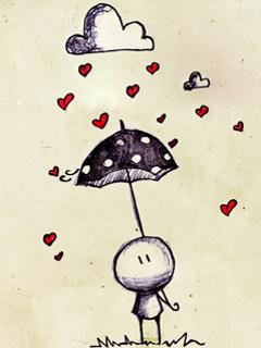 Картинка Дождь из сердечек