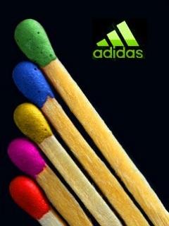 Картинка Adidas+разноцветные спички